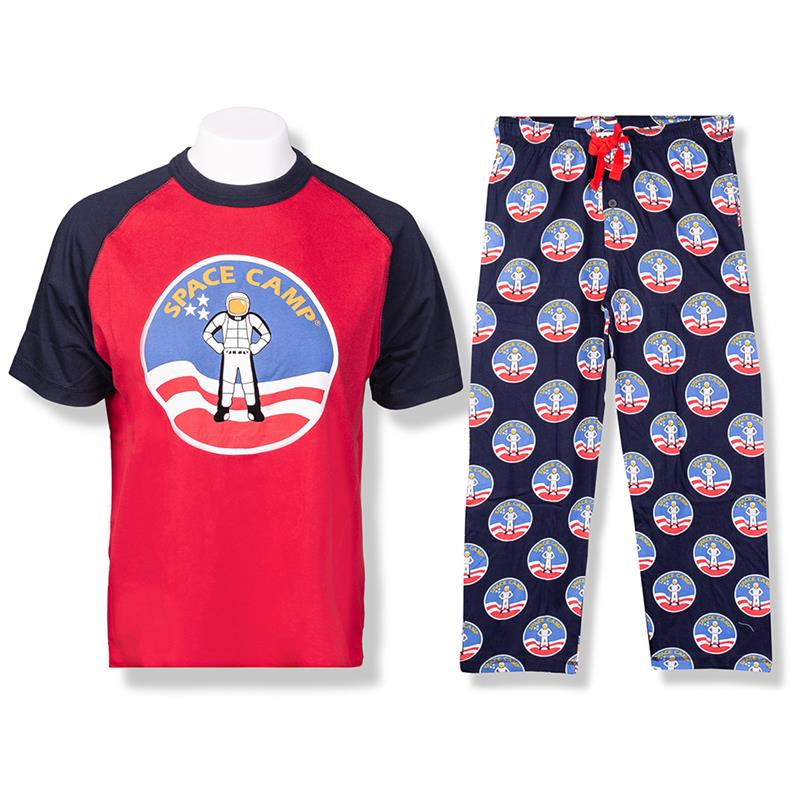 Space Camp Crew Neck Pajama Set,SPACECAMP