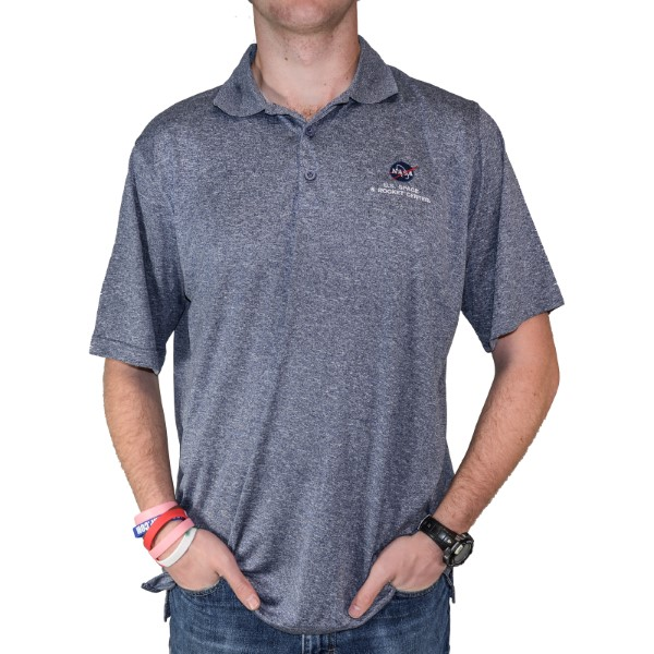 Embroidered NASA Vector Polo,NASA,PSSLVR