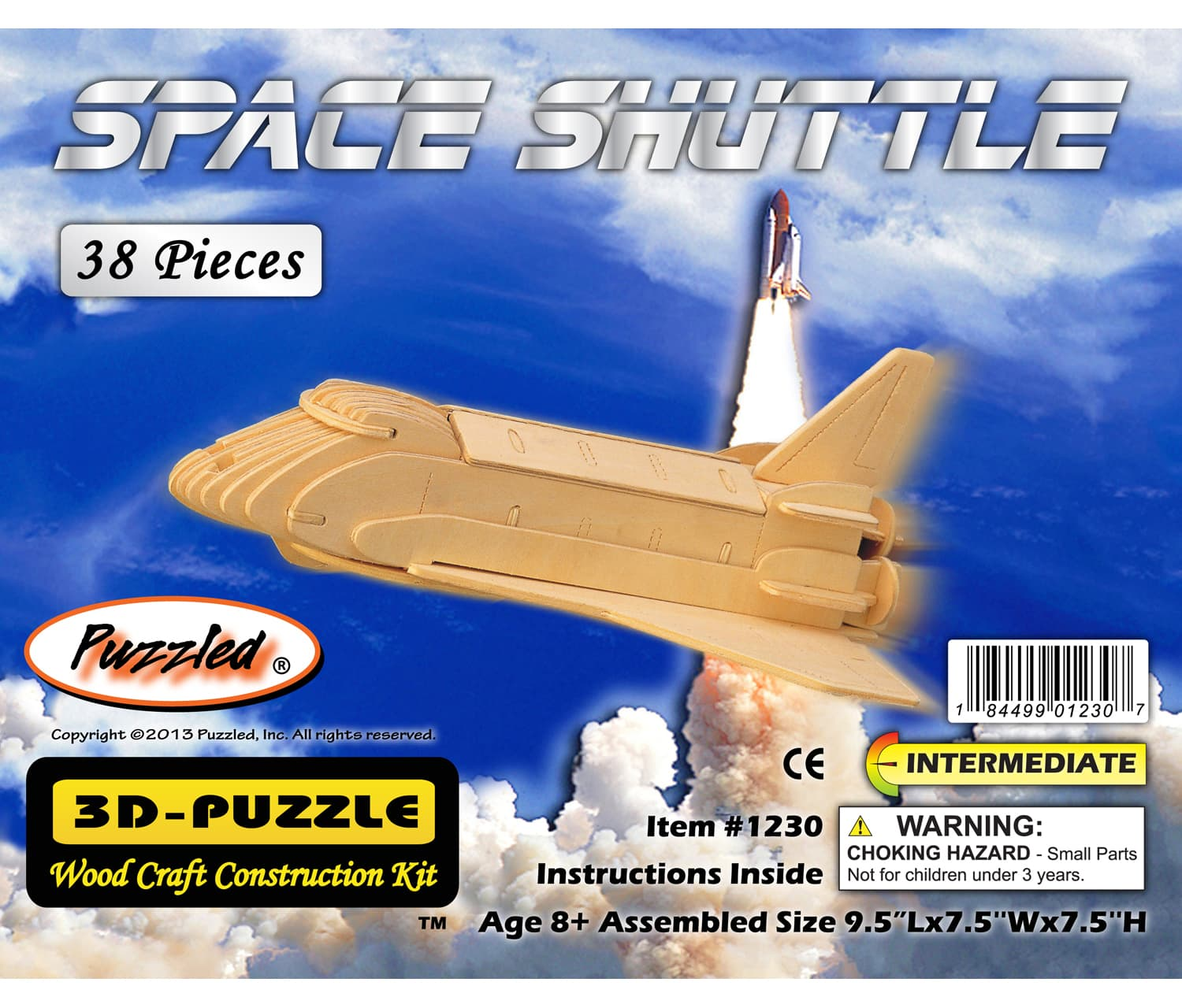 Space Shuttle 3D Wooden Puzzle,1230