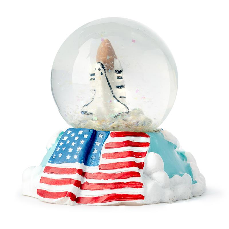 Shuttle with Flag Waterball,H1190-00