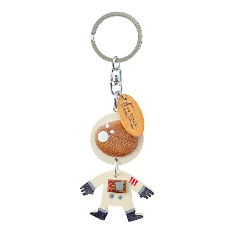 Astronaut Wood Dangle Keychain,20/2159