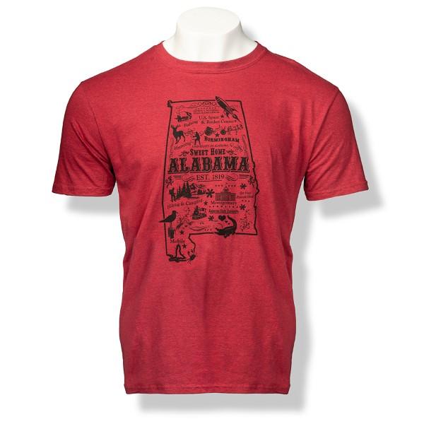 Alabama State Design Tee,XTH-38041/64000