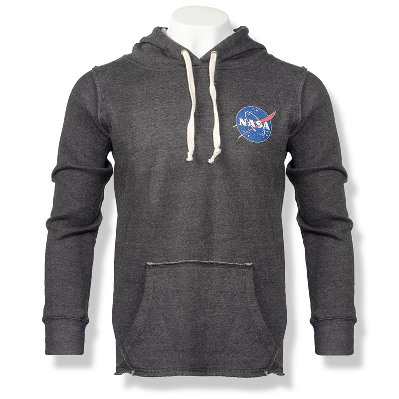 NASA Meatball Logo Men's Full Zip Hoodie,NASA,85029